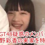 【疑惑のメンバ-】NGT48 太野彩香さんの実家を特定完了【画像あり】