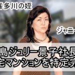 【ジャニーズ社長】藤島ジュリー景子社長の自宅マンションを特定完了【画像あり】