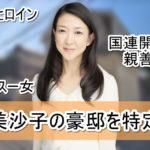 【国連開発計画親善大使】紺野美沙子の豪邸自宅を特定完了【画像】