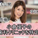 【夫の顔も公開】小倉優子さんの夫の歯科クリニックを特定完了【画像】